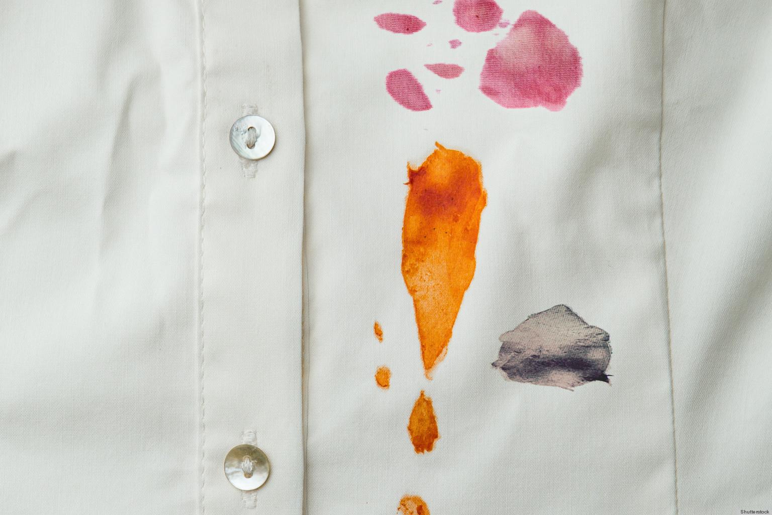 fläckar på skjorta